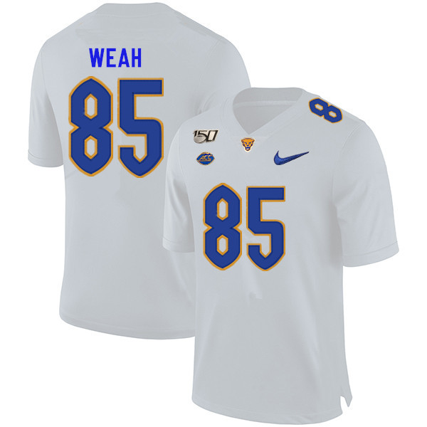 2019 Men #85 Jester Weah Pitt Panthers College Football Jerseys Sale-White