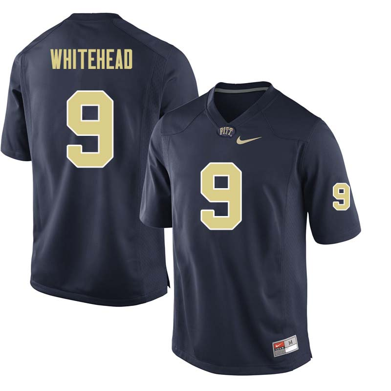 Men #9 Jordan Whitehead Pittsburgh Panthers College Football Jerseys Sale-Navy