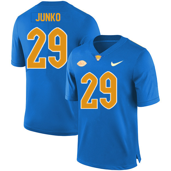 Men #29 Joshua Junko Pitt Panthers College Football Jerseys Sale-New Royal