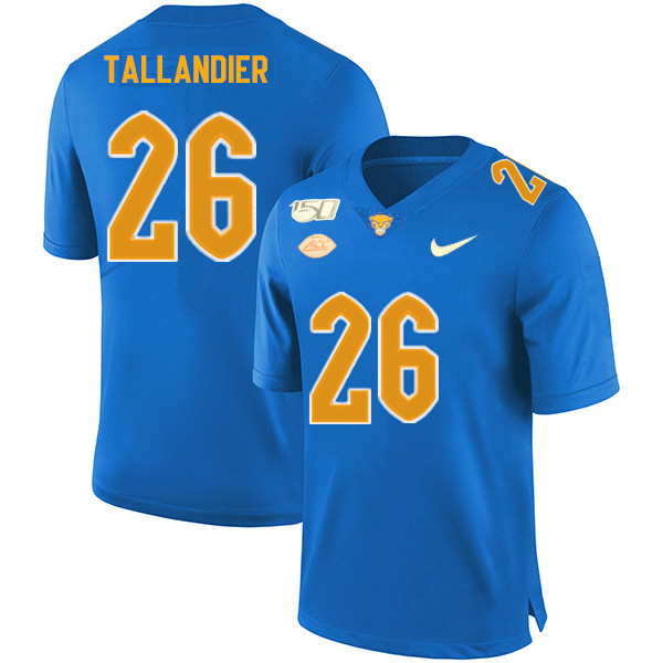 2019 Men #26 Judson Tallandier Pitt Panthers College Football Jerseys Sale-Royal