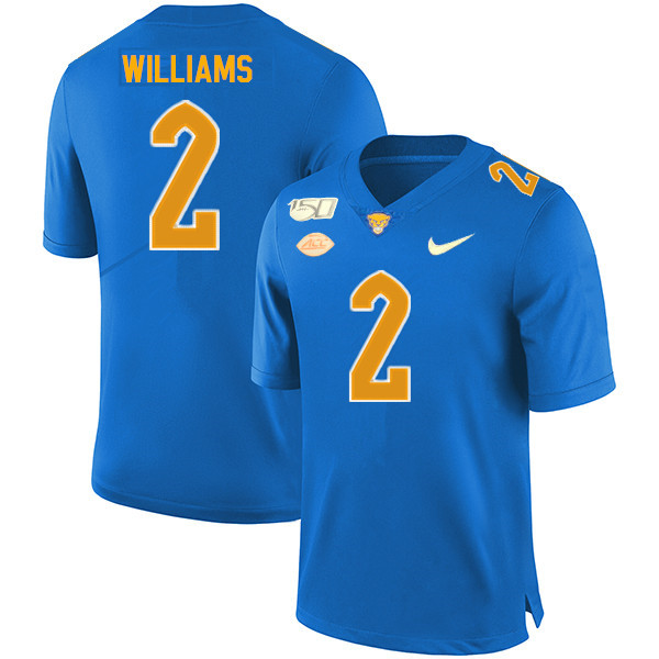2019 Men #2 KWaun Williams Pitt Panthers College Football Jerseys Sale-Royal