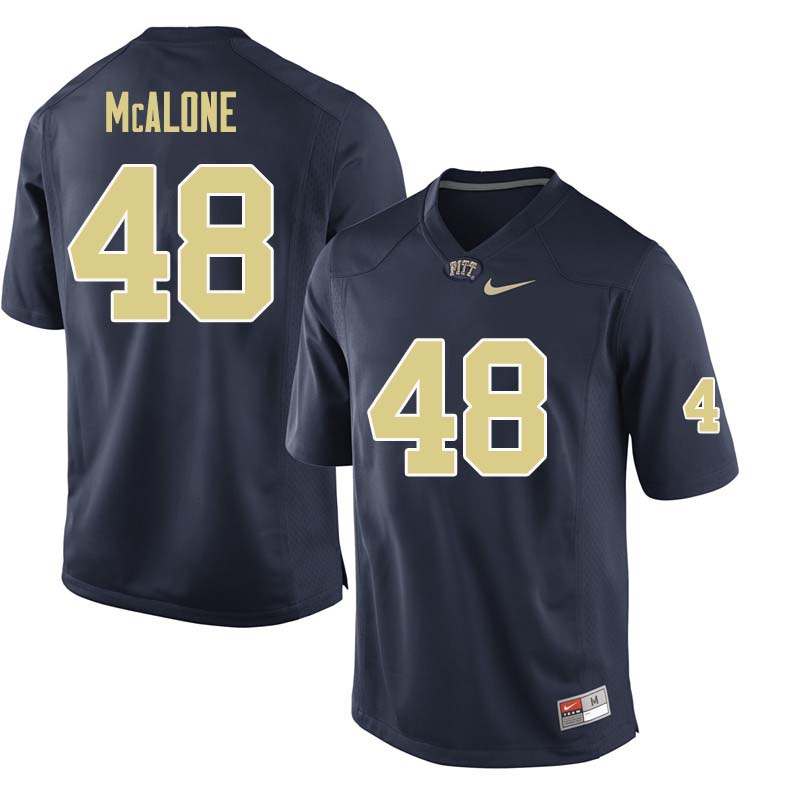 Men #48 Kellen McAlone Pittsburgh Panthers College Football Jerseys Sale-Navy