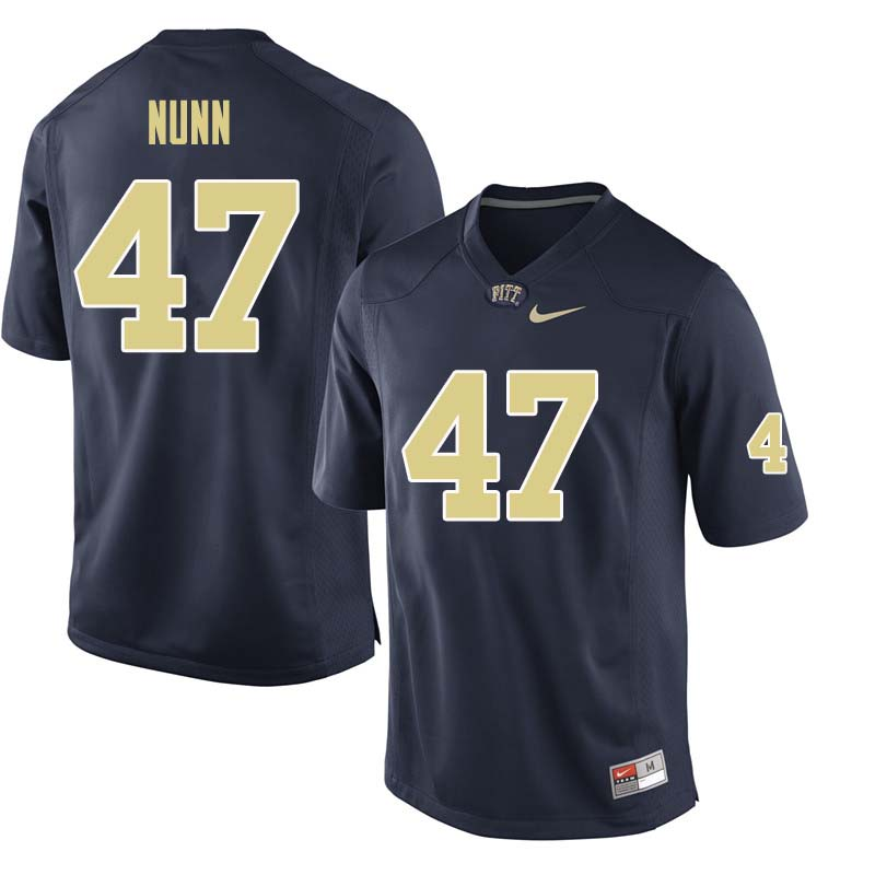 Men #47 Kyle Nunn Pittsburgh Panthers College Football Jerseys Sale-Navy