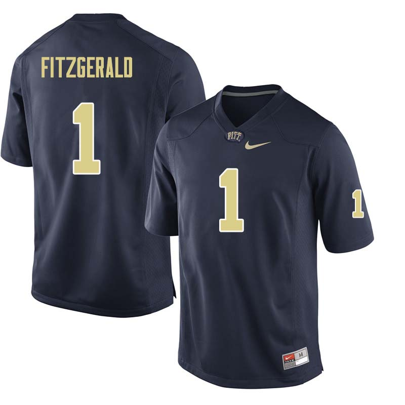 Men #1 Larry Fitzgerald Pittsburgh Panthers College Football Jerseys Sale-Navy