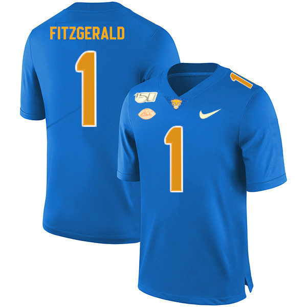 2019 Men #1 Larry Fitzgerald Pitt Panthers College Football Jerseys Sale-Royal
