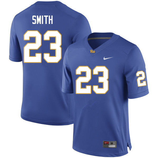 Men #23 Leslie Smith Pitt Panthers College Football Jerseys Sale-Royal