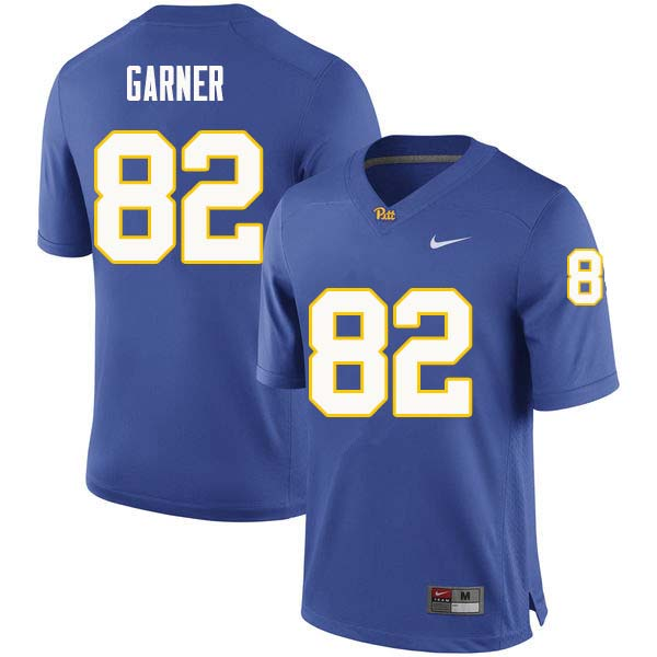 Men #82 Manasseh Garner Pittsburgh Panthers College Football Jerseys Sale-Royal