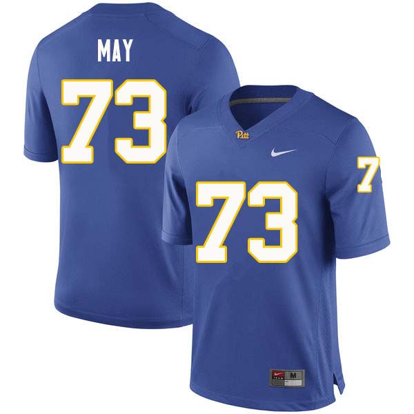 Men #73 Mark May Pittsburgh Panthers College Football Jerseys Sale-Royal