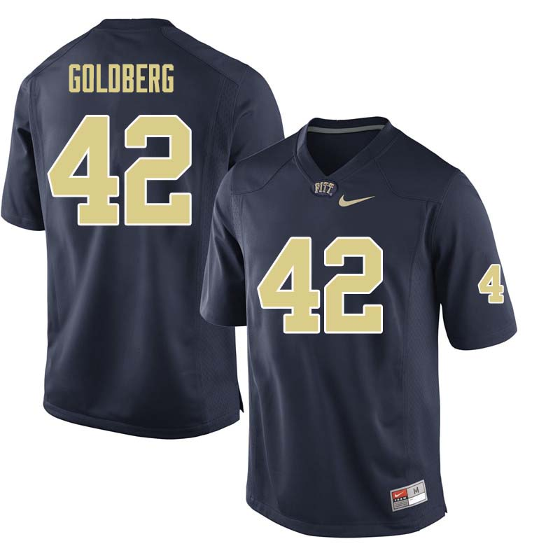 Men #42 Marshall Goldberg Pittsburgh Panthers College Football Jerseys Sale-Navy