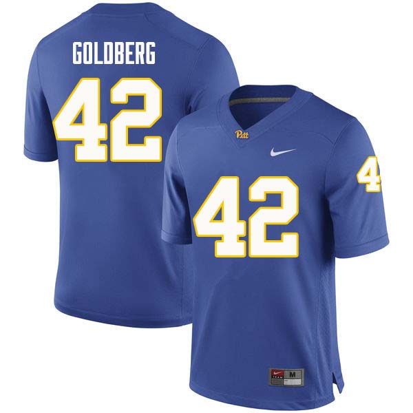 Men #42 Marshall Goldberg Pittsburgh Panthers College Football Jerseys Sale-Royal