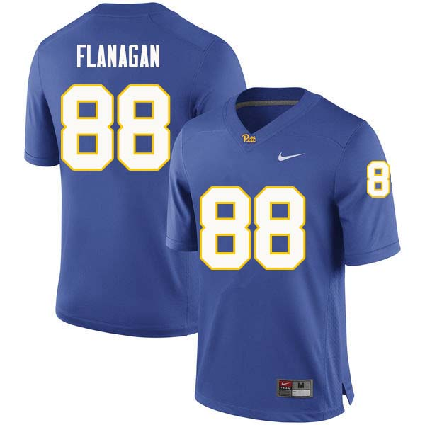 Men #88 Matt Flanagan Pittsburgh Panthers College Football Jerseys Sale-Royal