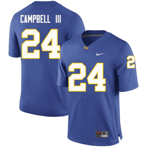 Men #24 Phil Campbell III Pittsburgh Panthers College Football Jerseys Sale-Royal
