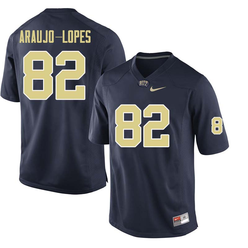 Men #82 Rafael Araujo-Lopes Pittsburgh Panthers College Football Jerseys Sale-Navy