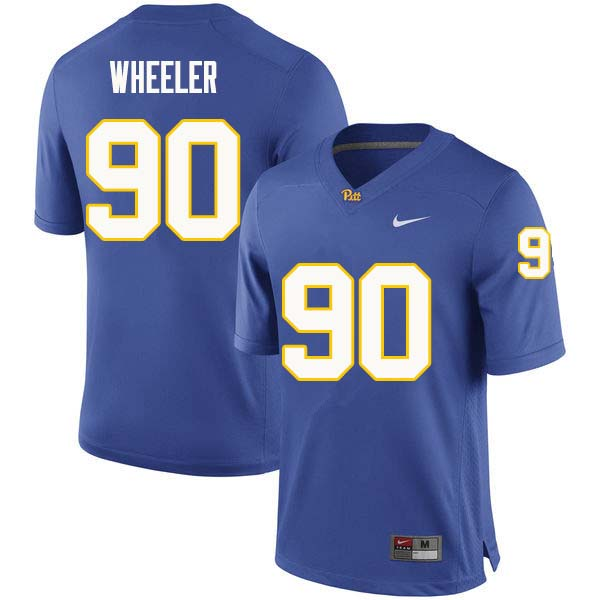 Men #90 Rashad Wheeler Pittsburgh Panthers College Football Jerseys Sale-Royal