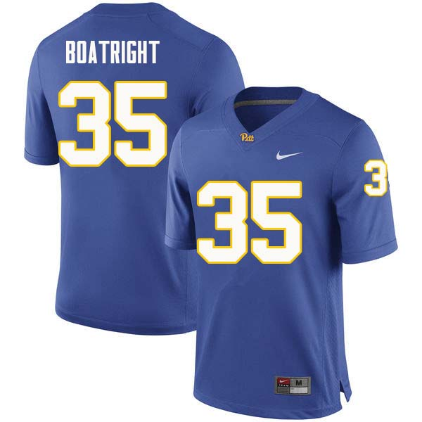 Men #35 Rob Boatright Pittsburgh Panthers College Football Jerseys Sale-Royal