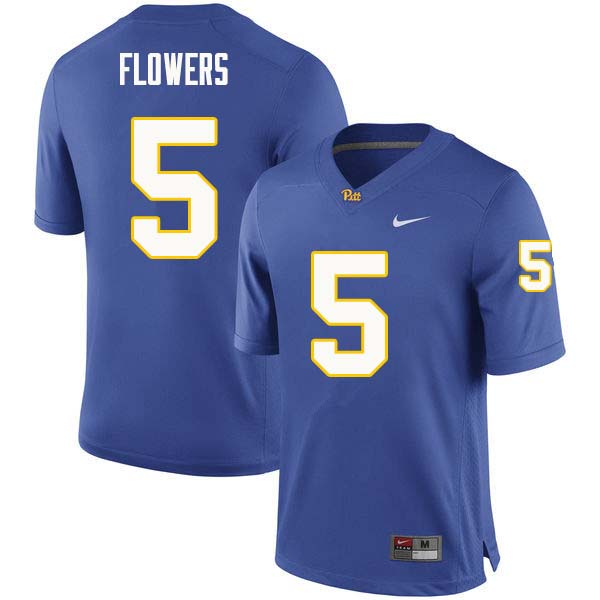 Men #5 Ruben Flowers Pittsburgh Panthers College Football Jerseys Sale-Royal