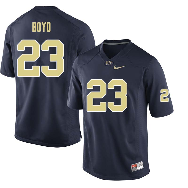 Men #23 Tyler Boyd Pittsburgh Panthers College Football Jerseys Sale-Navy