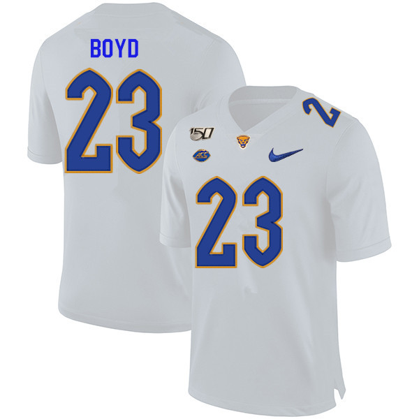 2019 Men #23 Tyler Boyd Pitt Panthers College Football Jerseys Sale-White
