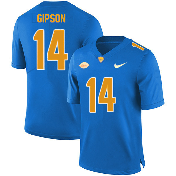 Men #14 Will Gipson Pitt Panthers College Football Jerseys Sale-New Royal