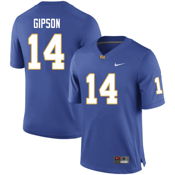 Men #14 Will Gipson Pitt Panthers College Football Jerseys Sale-Royal