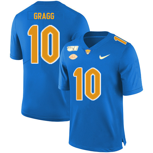 2019 Men #10 Will Gragg Pitt Panthers College Football Jerseys Sale-Royal