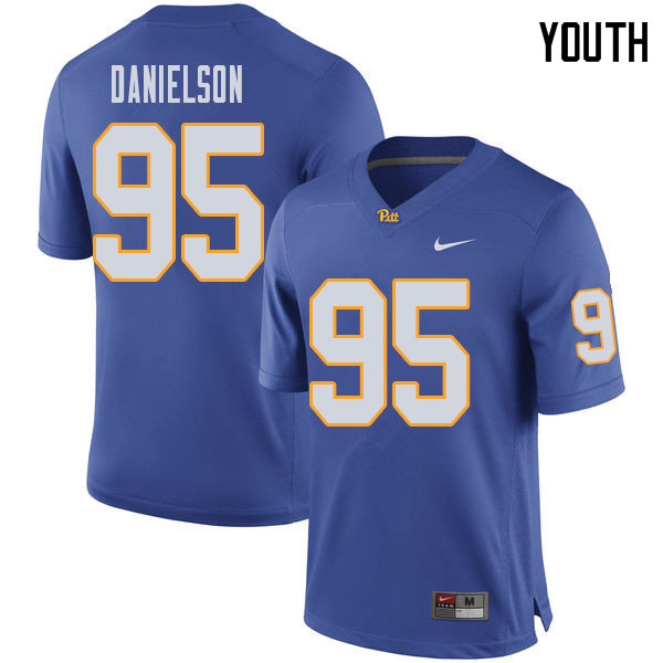 Youth #95 Devin Danielson Pittsburgh Panthers College Football Jerseys Sale-Royal