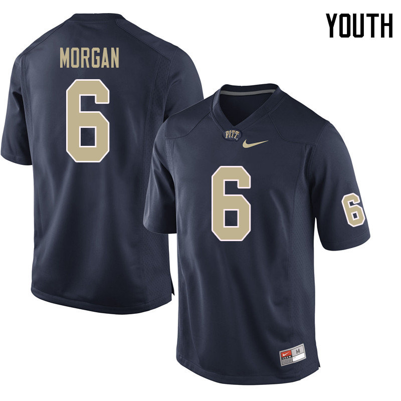 Youth #6 John Morgan Pittsburgh Panthers College Football Jerseys Sale-Navy