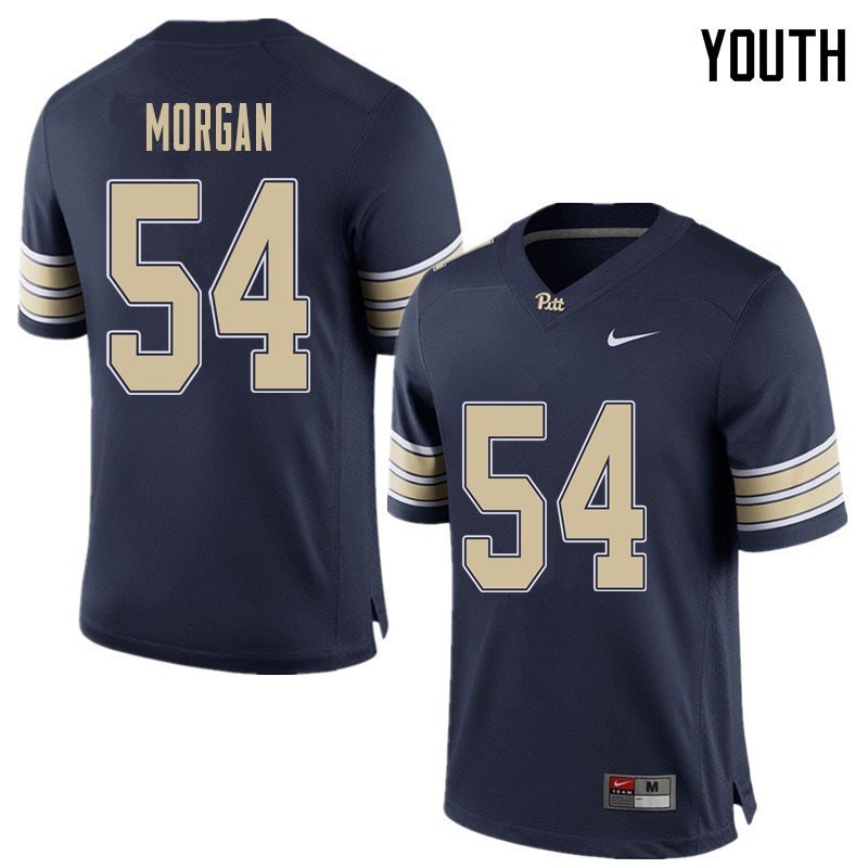 Youth #54 Justin Morgan Pittsburgh Panthers College Football Jerseys Sale-Home Blue