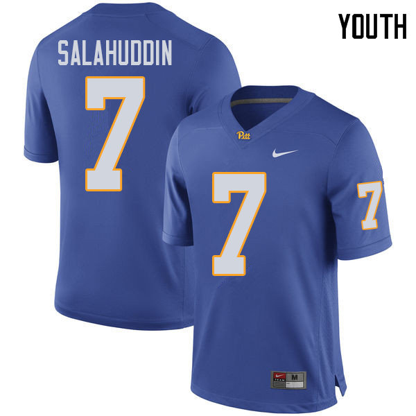 Youth #7 Mychale Salahuddin Pittsburgh Panthers College Football Jerseys Sale-Royal