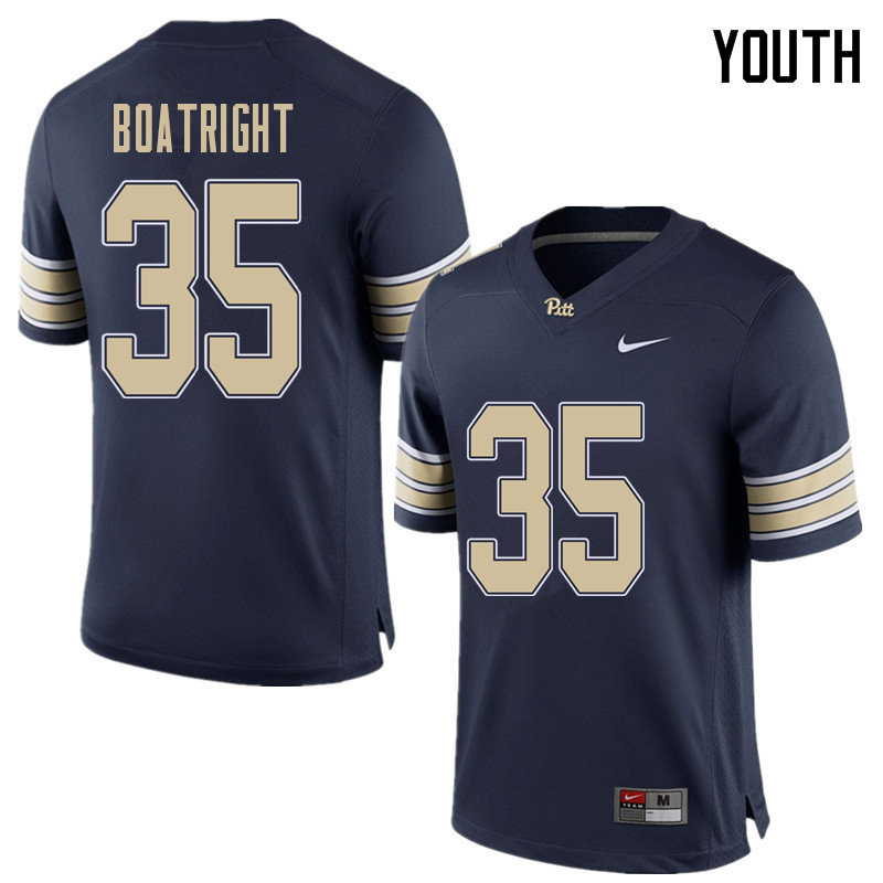 Youth #35 Rob Boatright Pittsburgh Panthers College Football Jerseys Sale-Home Blue