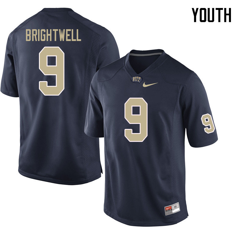 Youth #9 Saleem Brightwell Pittsburgh Panthers College Football Jerseys Sale-Navy