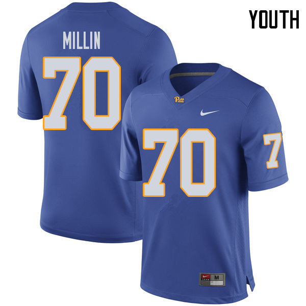 Youth #70 Stefano Millin Pittsburgh Panthers College Football Jerseys Sale-Royal