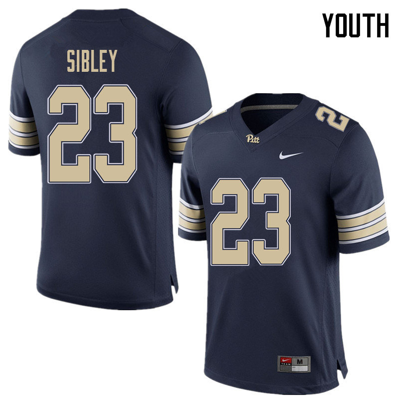 Youth #23 Todd Sibley Pittsburgh Panthers College Football Jerseys Sale-Home Blue