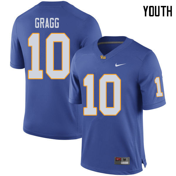 Youth #10 Will Gragg Pittsburgh Panthers College Football Jerseys Sale-Royal