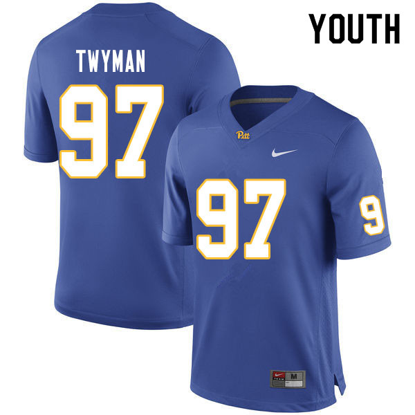 Youth #97 Jaylen Twyman Pitt Panthers College Football Jerseys Sale-Royal