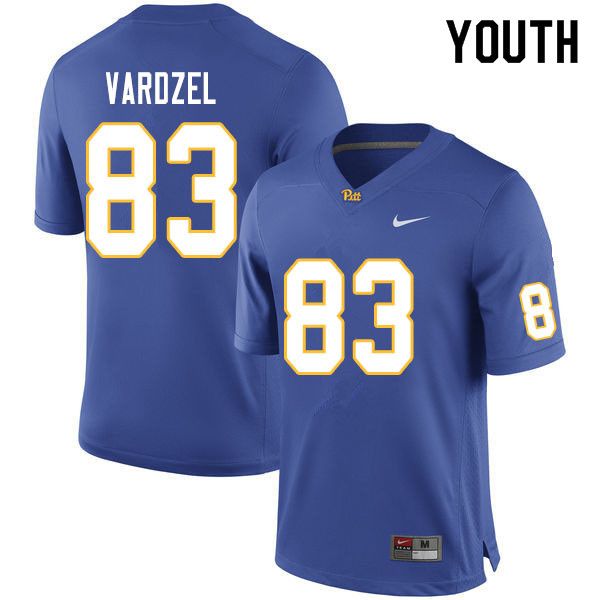 Youth #83 John Vardzel Pitt Panthers College Football Jerseys Sale-Royal