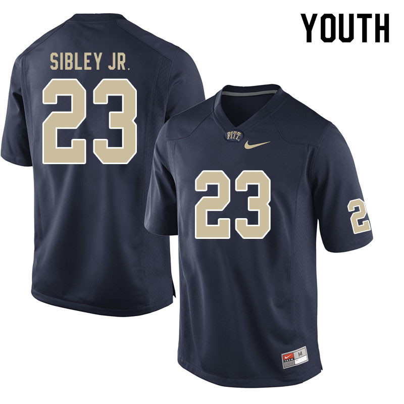 Youth #23 Todd Sibley Jr. Pitt Panthers College Football Jerseys Sale-Navy