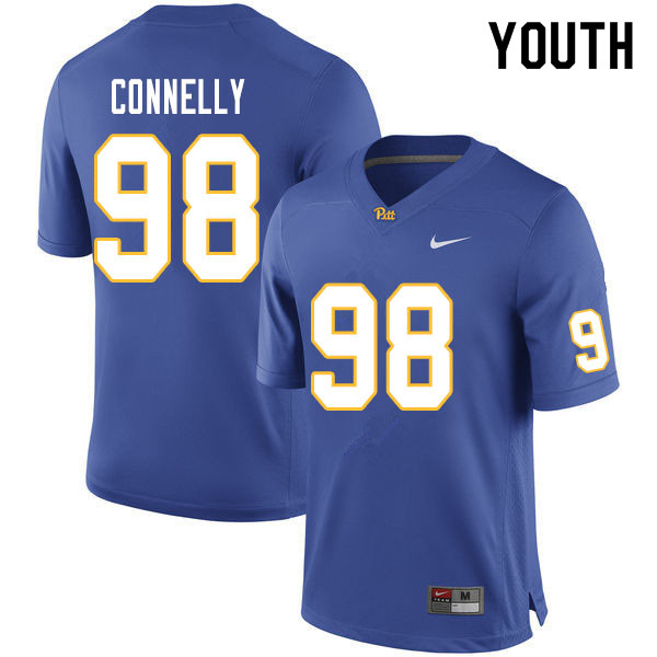 Youth #98 Will Connelly Pitt Panthers College Football Jerseys Sale-Royal