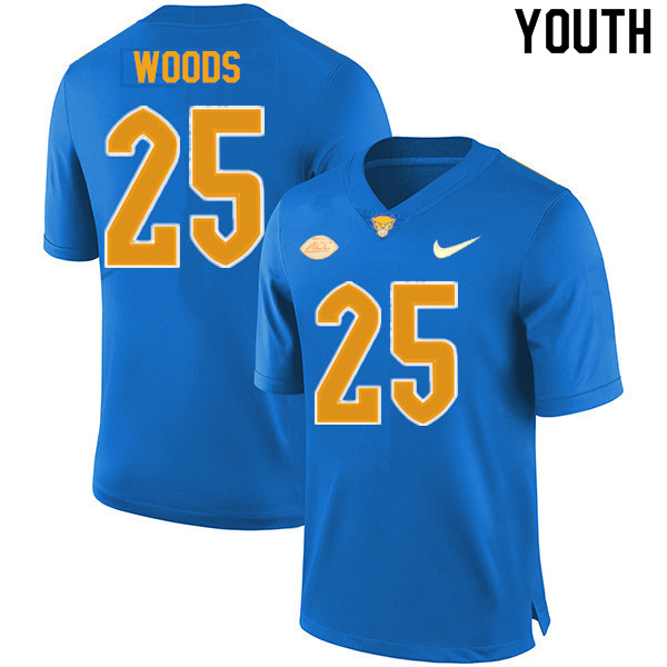 Youth #25 A.J. Woods Pitt Panthers College Football Jerseys Sale-New Royal