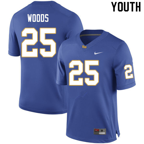 Youth #25 A.J. Woods Pitt Panthers College Football Jerseys Sale-Royal