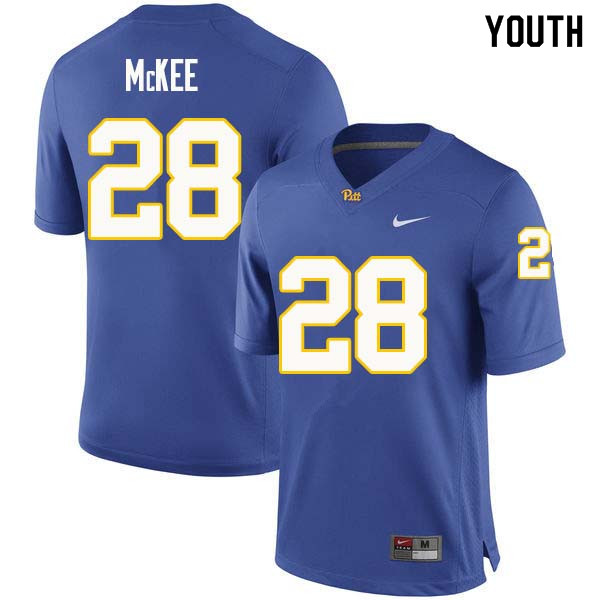 Youth #28 Anthony McKee Pittsburgh Panthers College Football Jerseys Sale-Royal