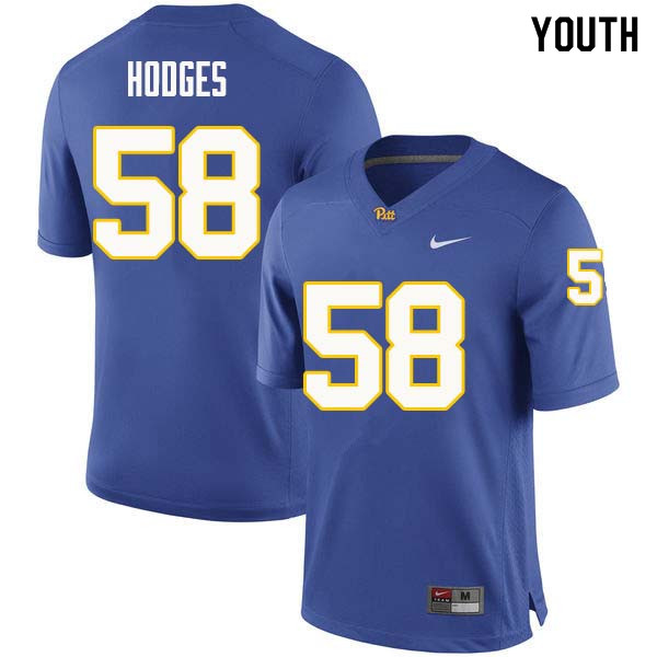 Youth #58 Brandon Hodges Pittsburgh Panthers College Football Jerseys Sale-Royal