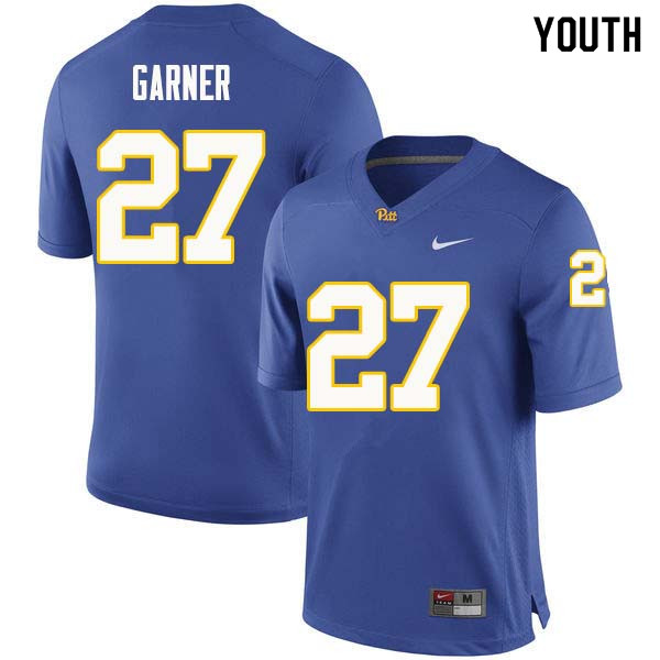 Youth #27 Bricen Garner Pittsburgh Panthers College Football Jerseys Sale-Royal