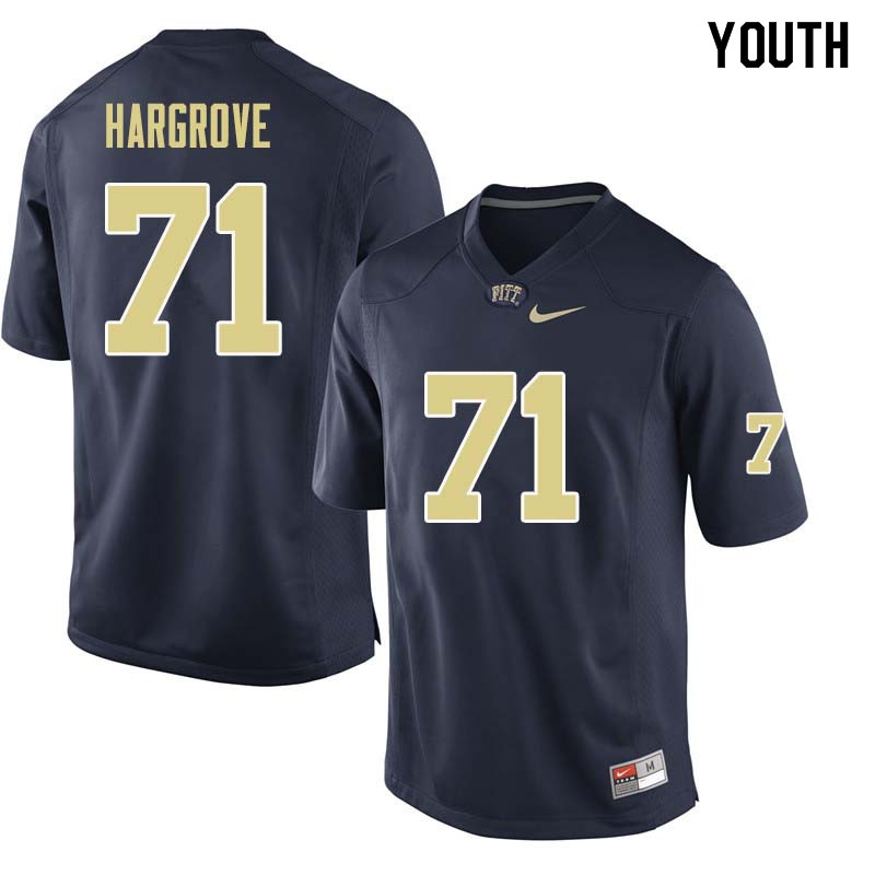 Youth #71 Bryce Hargrove Pittsburgh Panthers College Football Jerseys Sale-Navy