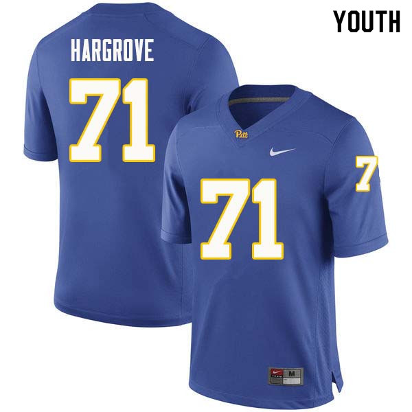 Youth #71 Bryce Hargrove Pittsburgh Panthers College Football Jerseys Sale-Royal