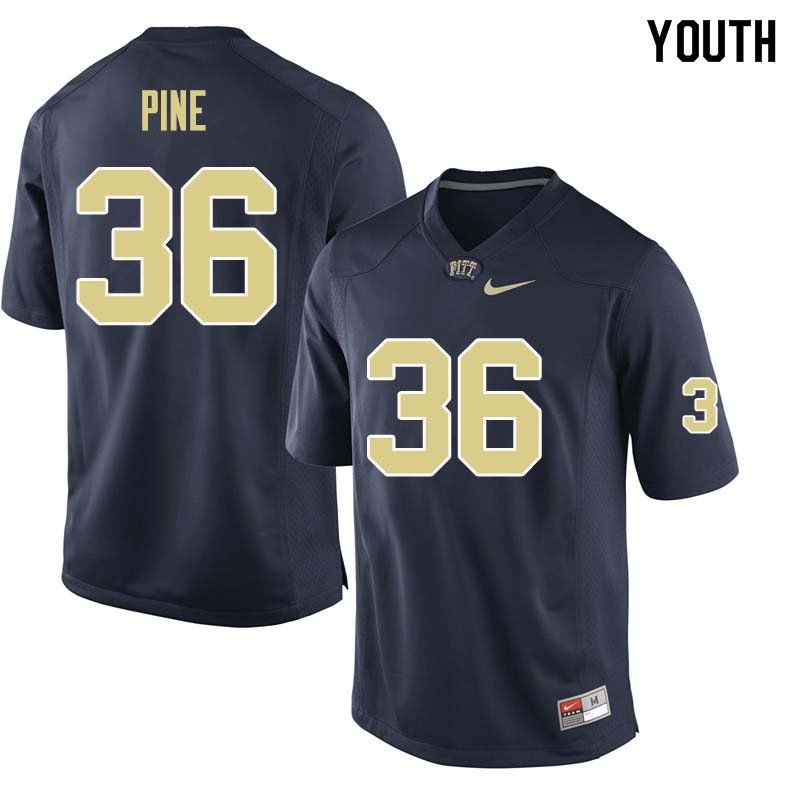 Youth #36 Chase Pine Pittsburgh Panthers College Football Jerseys Sale-Navy