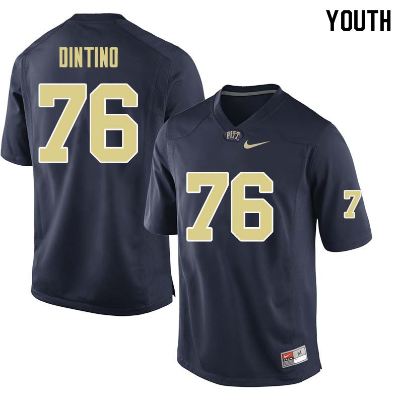 Youth #76 Connor Dintino Pittsburgh Panthers College Football Jerseys Sale-Navy