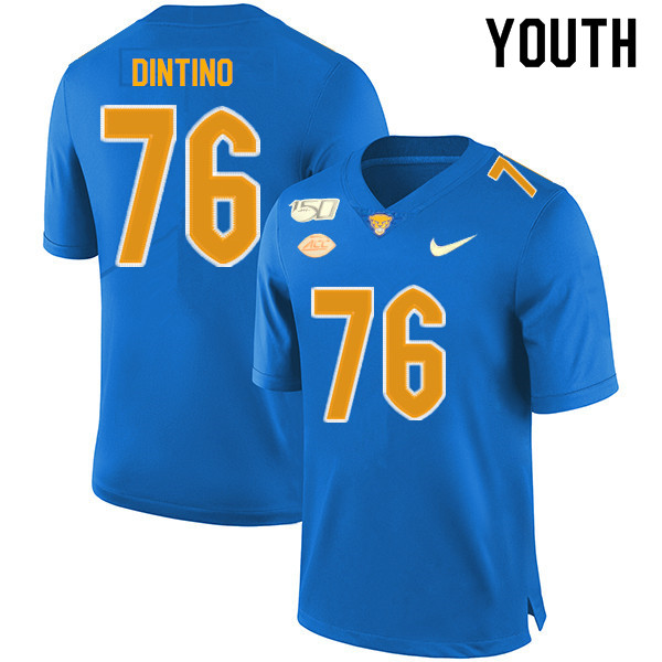 2019 Youth #76 Connor Dintino Pitt Panthers College Football Jerseys Sale-Royal