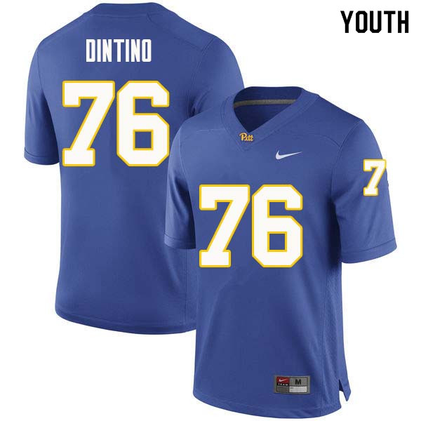 Youth #76 Connor Dintino Pittsburgh Panthers College Football Jerseys Sale-Royal