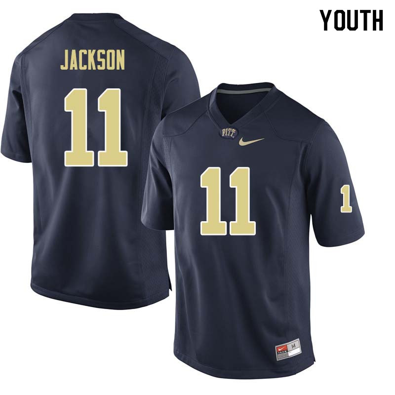 Youth #11 Dane Jackson Pittsburgh Panthers College Football Jerseys Sale-Navy
